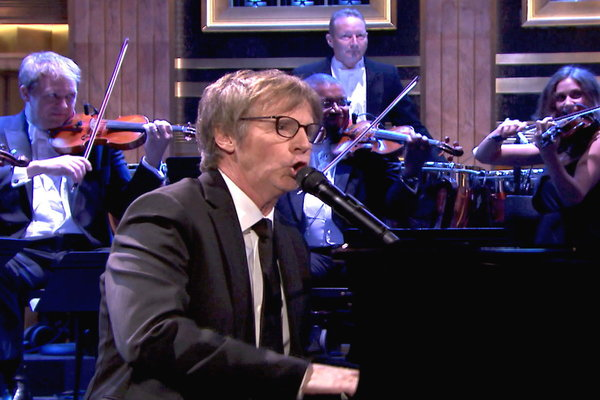 """The Tonight Show Starring Jimmy Fallon: Dana Carvey Performs """"Choppin' Broccoli"""" With Orchestra"""