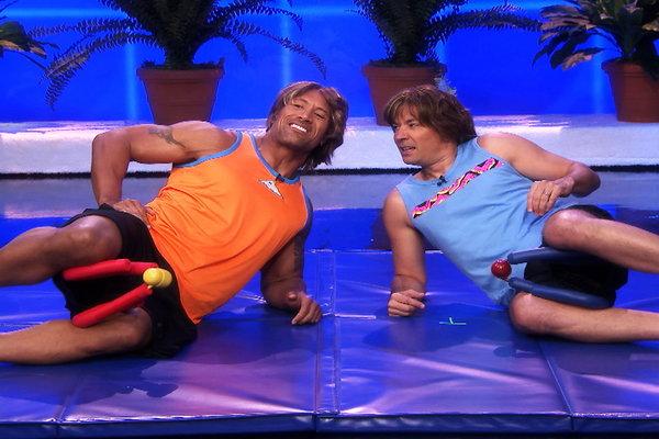 The Tonight Show Starring Jimmy Fallon: Jimmy Fallon & Dwayne Johnson's Workout Videos, Part 1